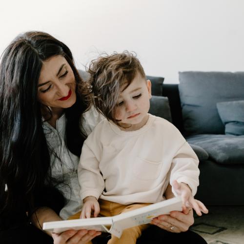 Interactief voorlezen met interactief kinderboek Beertje het is bedtijd